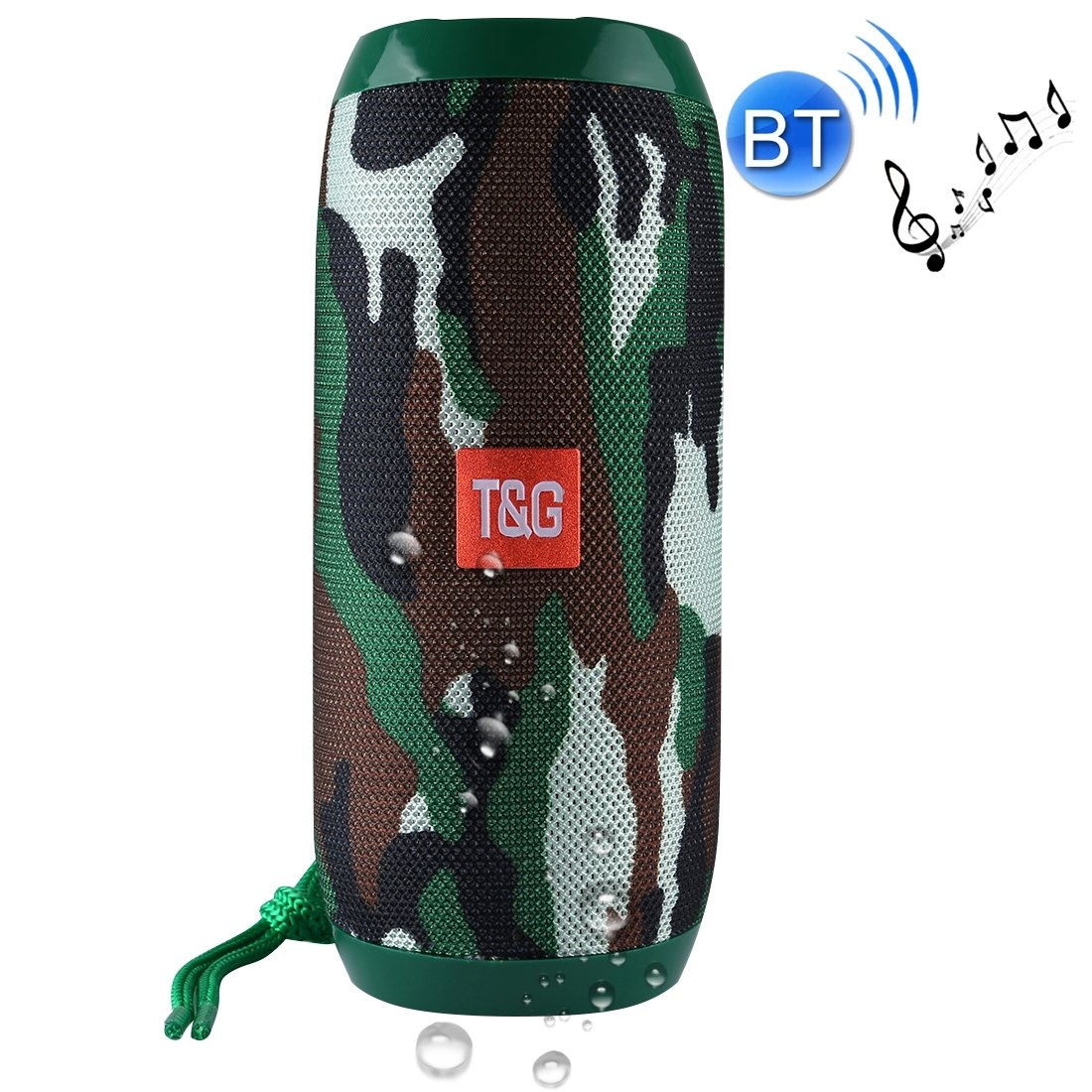 Consumer YHM TG117 ポータブルBluetoothステレオスピーカー マイク内蔵 ハンズフリー通話&microSDカード&AUX入力&FM対応 Bluetooth距離:10m(ブラック) Consumer B07QNJ7ZHR グリーン