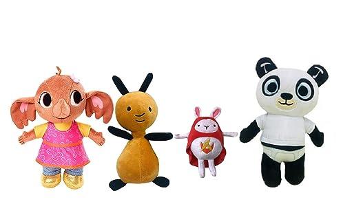 Bing Peluche Coniglio Bunny Serie TV Set Personaggi: Pando Flop Hoppity Voosh...