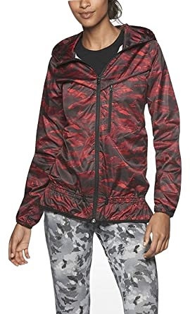 6c5bc783fe4c Nike New NWT Packable Camouflage Trail Jacket Womens RED Black ...