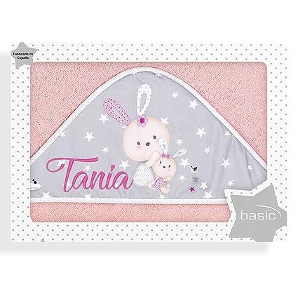 Capa de Baño para Bebé Personalizada con Nombre, modelo Rabbit Rosa