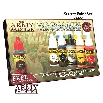 Set de Pinturas para Principiantes Pintador de Ejércitos con Pinturas de Guerra
