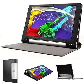 COODIO Premium Funda de Piel Cover Funda Funda de Piel con Soporte para Lenovo Yoga Tablet2 Pro 13,3 Pulgadas – Negro