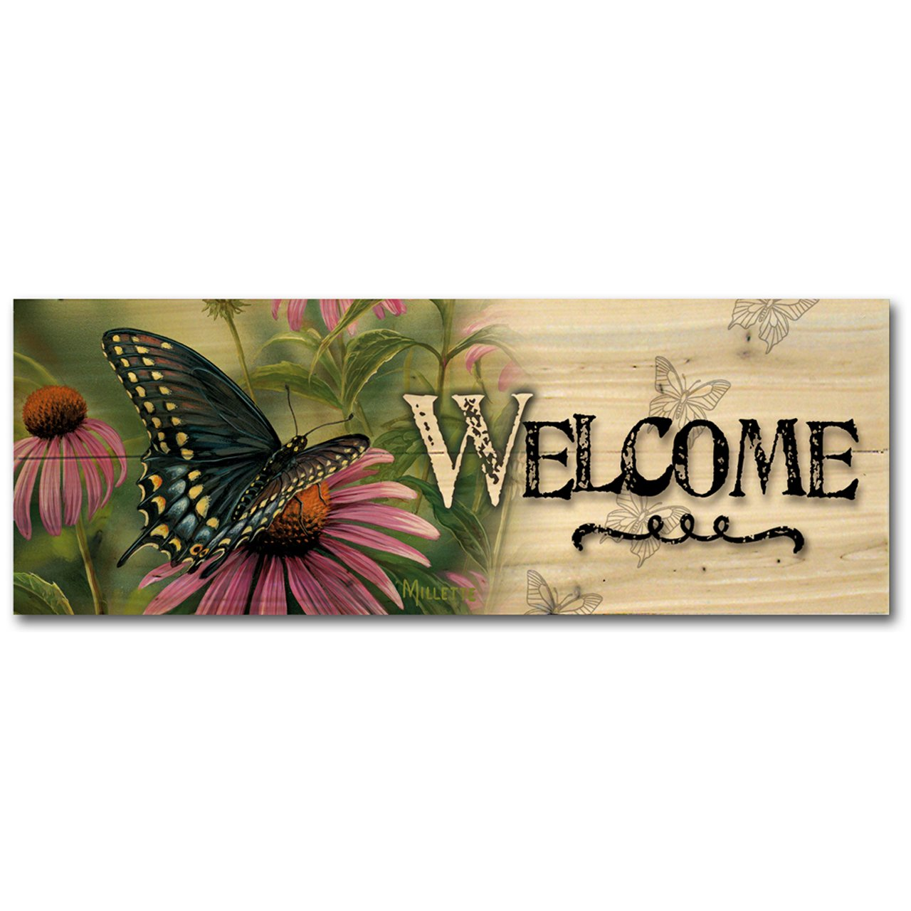 WGI Gallery W-BSB-124 Black Swallowtail Butterfly Welcome Wall Art