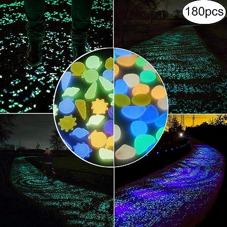 Xiangfeng - Paquete de 2 piedras brillantes en la oscuridad para paseos, decoración al aire