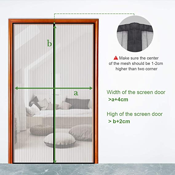 Mosquitera puerta corredera lateral con iman para terraza// habitacion 100 Gimars Cortina mosquitera doble magnetica puerta exterior sin tornillos 220 cm F/ácil de instalar