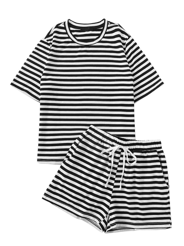 Black White SweatyRocks Women's Crop TShirt Tie Front Long Sleeve Cut Out Casual Blouse Top