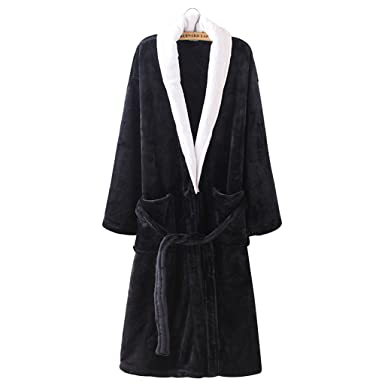 Unisex Long Flannel Bathrobes Women Nightwear Men Bath Robe Warm Winter  Dressing Gown. Roll over image to zoom in. Olivia s Stylism Boutique 2aac31cb3
