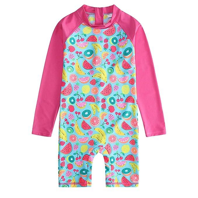 Amazon.com: OwlFay - Traje de baño de una pieza para niñas ...