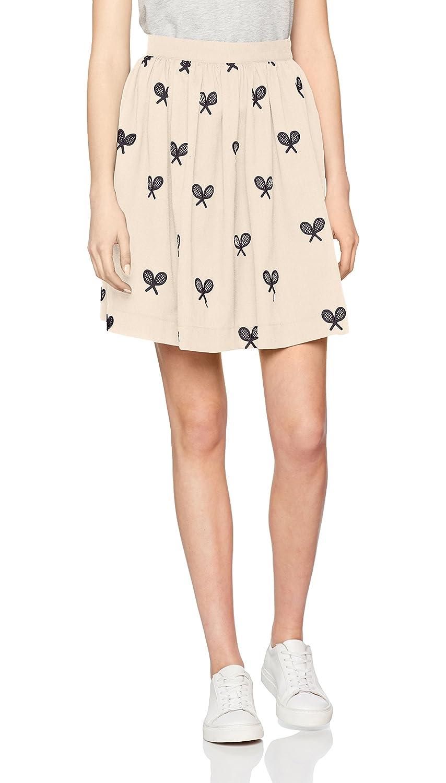 TALLA M. Pepaloves Rackets Skirt Cream, Falda Casual para Mujer