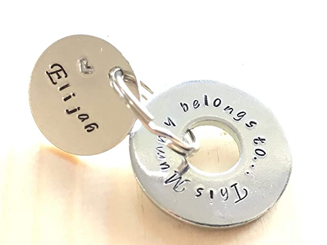 Personalised Hand Stamped Key Ring This Mummy Belongs To Mothers Day Gift For Her Birthday Amazoncouk Handmade