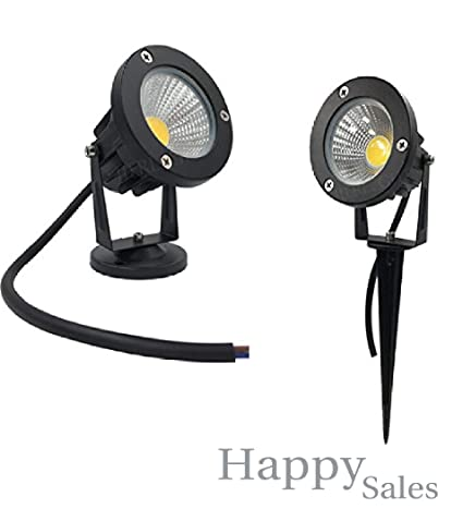 Happy Selling Outdoor Led Garden Light 5 Watt Led Spike Warm White Focus { IP65  Water Resistant & Adjustable 180° } Black Aluminium Body || Garden Lights | | 5w Garden Light | (Set 02)