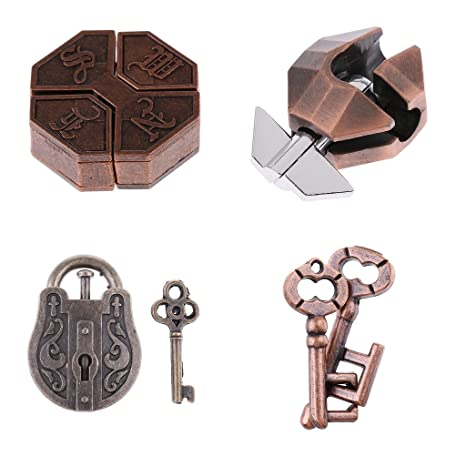 Box Lock Puzzle Classic Metal Brain Teaser IQ Test Toys for Adults Children