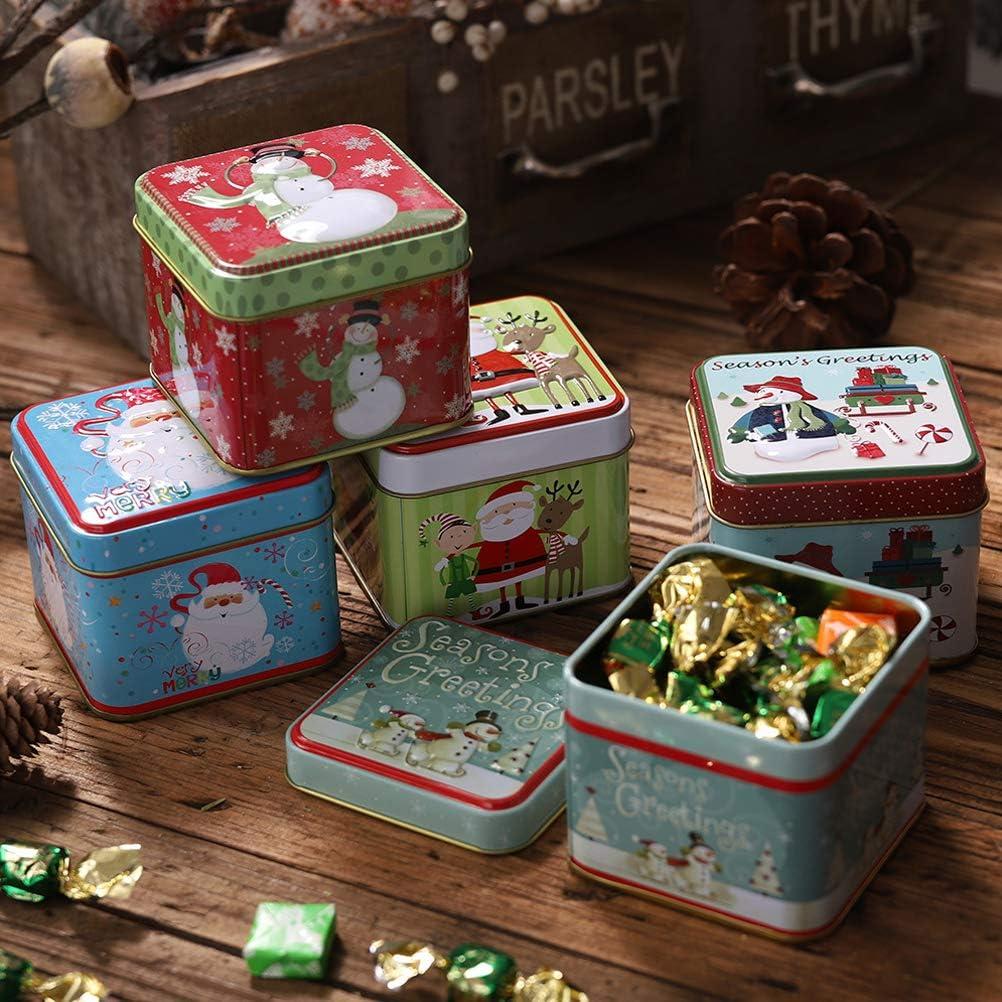 Scatola Latta Biscotti Natale.Biscottiere Scatola Regalo Quadrata In Latta Contenitore Per Biscotti In Latta Di Santa Snowman Contenitori Per Decorazioni Natalizie Jiurong Contenitore Per Caramelle Di Natale Casa E Cucina