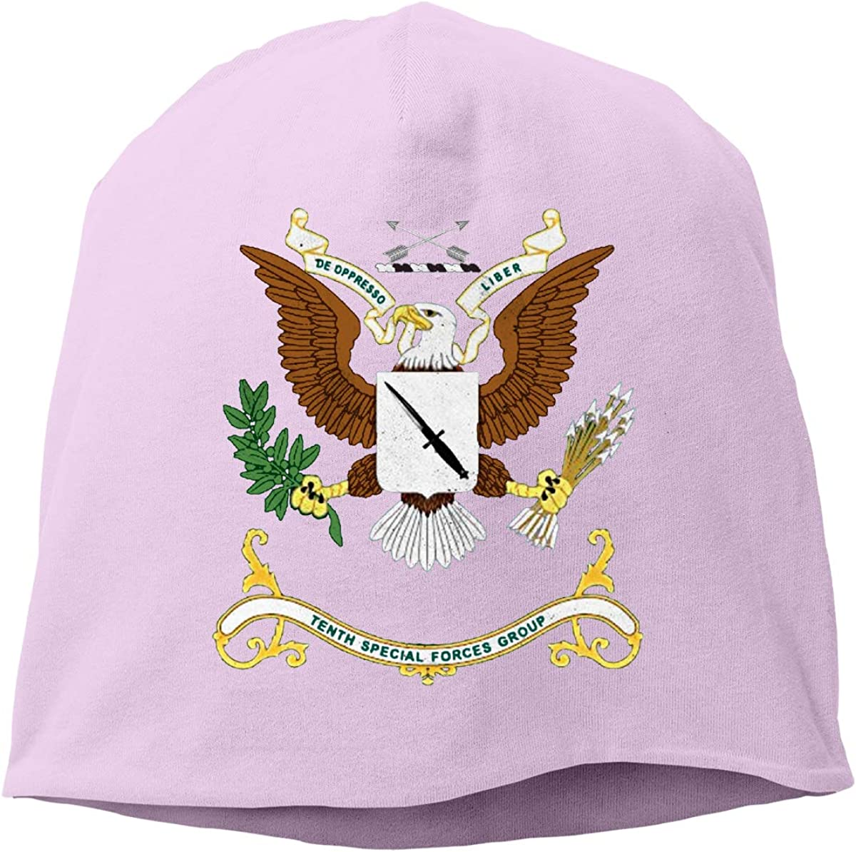Unisex Us Army Tenth Special Forces Groups Running Beanie Cap Cuffed Plain Skull Cap Hat