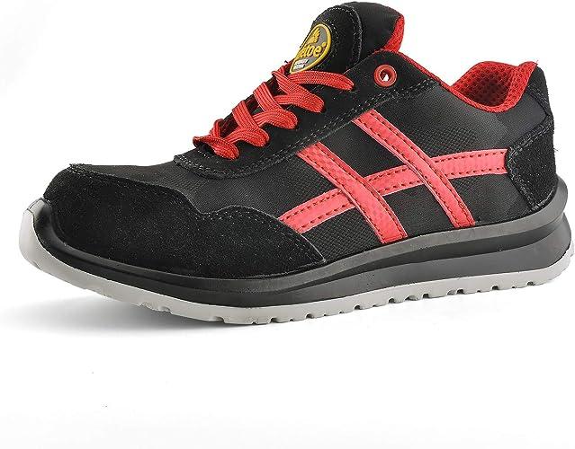 Safetoe L7329 S1p Zapatillas De Seguridad Para Hombre Y Mujer Ligeras De Caña Alta De Piel Y Compuesto Plástico Para Construcción E Industrias Rojo Rojo 36 2 3 Eu Amazon Es Zapatos Y Complementos