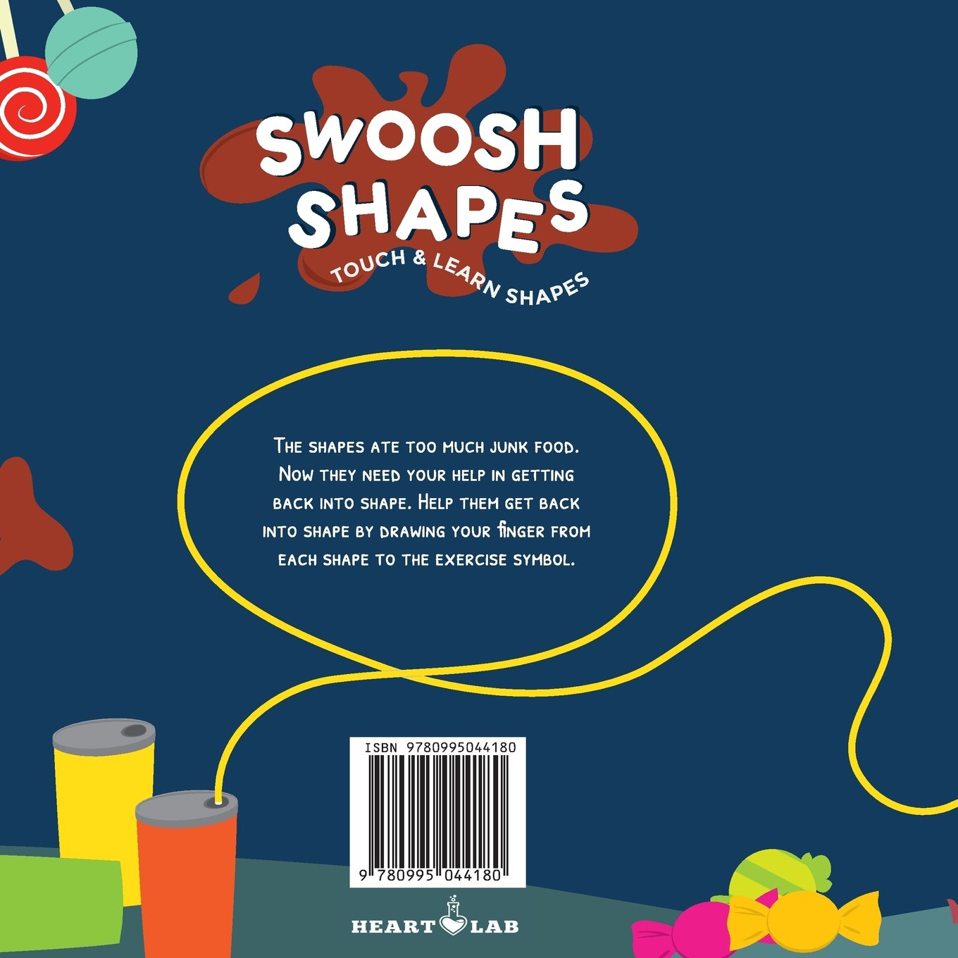 Swoosh Shape: Touch & Learn Shapes  - ages 2-4 for toddlers, preschool and kindergarten kids