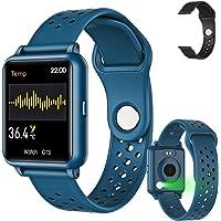 Amzatek Smartwatch Pulsera Inteligente, Reloj Deportivo Inteligente Detección de Temperatura Corpora 1.3in,Pulsera Reloj…