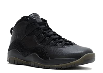 Nike Mens Air Jordan 10 Retro OVO Black/Metallic Gold Leather Size 8