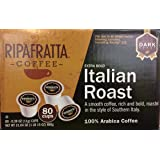 Ripafratta Italian Roast Coffee Single Serve K-cup, 80 Count