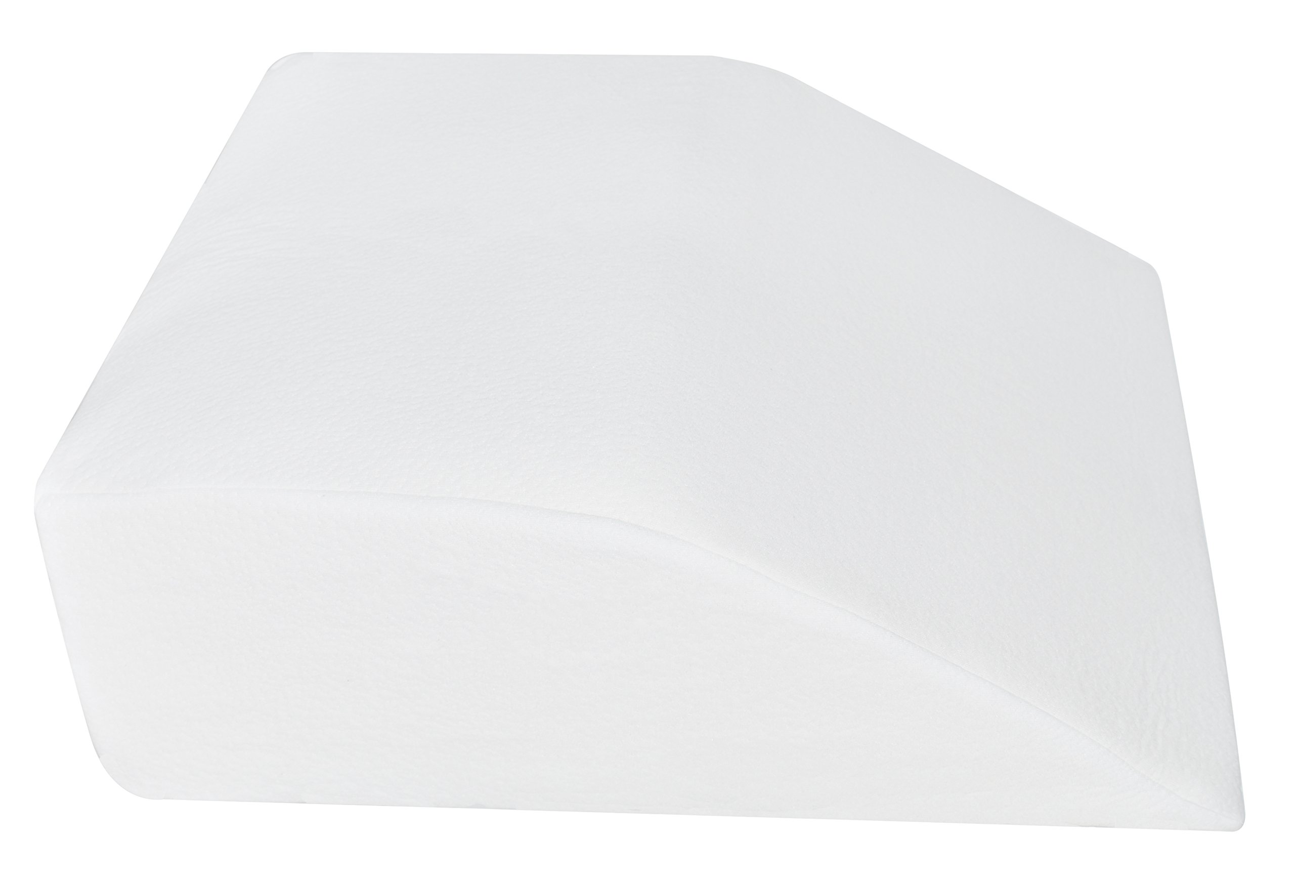 Elevating Leg Rest Pillow for Post Surgery with Memory Foam Top Great for Knee, Hip, Back Pain Relief Recovery from Foot & Ankle Injury Elevator with Washable Breathable Cover 24'' x 21'' x 8'' (White)