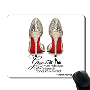 iFUOFF Mousepad, High-Heeled Shoes Fashion Oblong Mouse Pad Mat with Rubber Gift Idea Non Slip Gaming MousePads