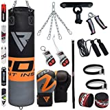RDX Sac de Frappe Rempli Lourd Punching Ball Kickboxing Muay Thai MMA Kickboxing Arts Martiaux Kit Boxe Avec Gants Chaine Suspension support Plafond Punching Bag