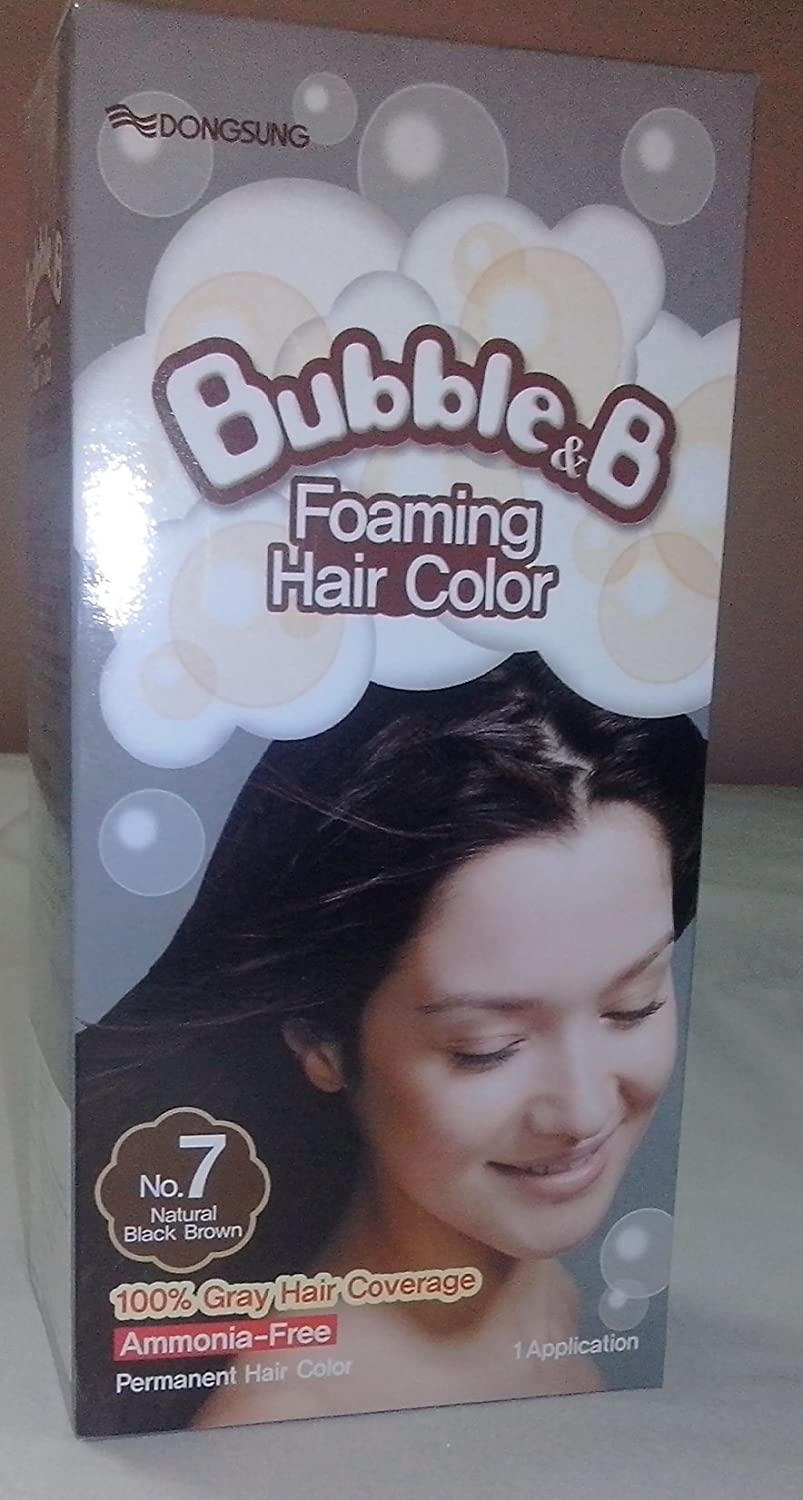 Buy Bubble B Foaming Hair Color Black Brown Online At Low Prices
