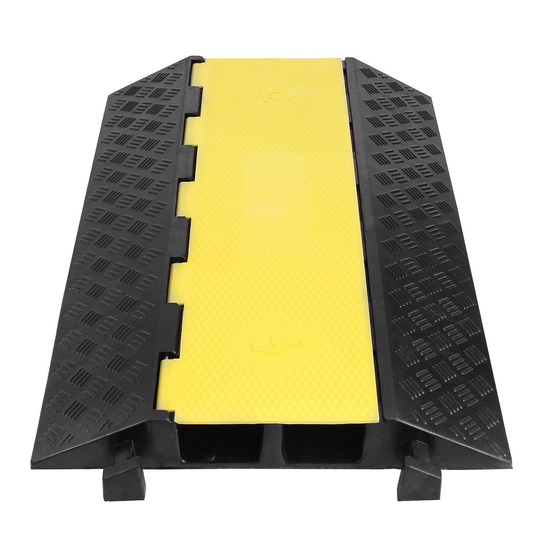 Chrisun Grandes Protections De C/âble Rampes De C/âble En Caoutchouc Par Ctesse De Circulation En Caoutchouc Bumps Protecteur De C/âble 1 Canal 4 Pack//8.16T