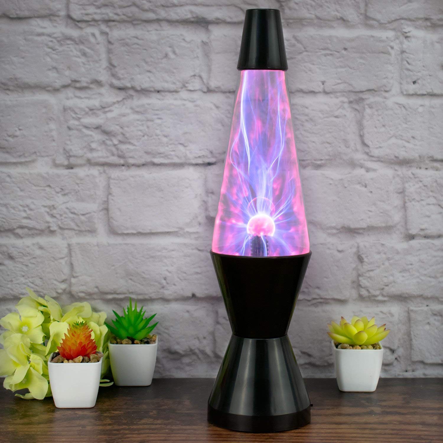The Glowhouse Plasma Lightning Rocket Lava Lamp Style Special Effects Light Lamp Interaction (37cm H)