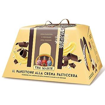 """Tre Marie: """"Il Panettone Crema Pasticciera e Cioccolato Extra Fondente"""" Italian Panettone"""