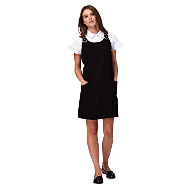 a9075a2849 Red Herring Womens Black Denim Pinafore  Red Herring  Amazon.co.uk ...
