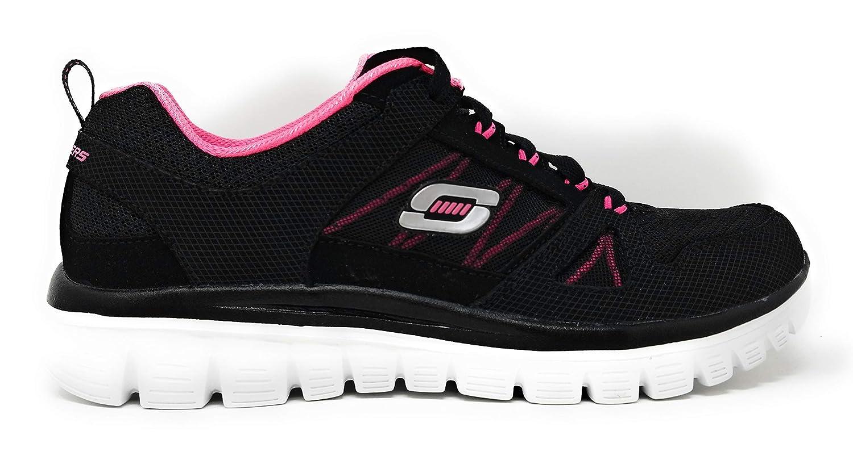 Black Hot Pink Romance Novel Skechers Graceful 2.0 Magnificent Journey Walking shoes
