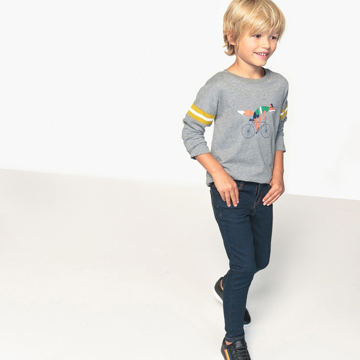 59 in. 3-12 Years Blue Size 12 Years La Redoute Collections Big Boys Skinny Jeans