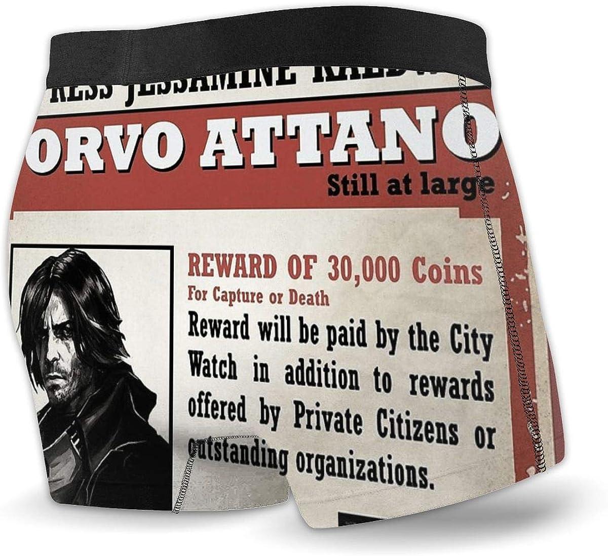 HATUO Corvo Attano Wanted Poster Mens Boxer Briefs Breathable Underwear