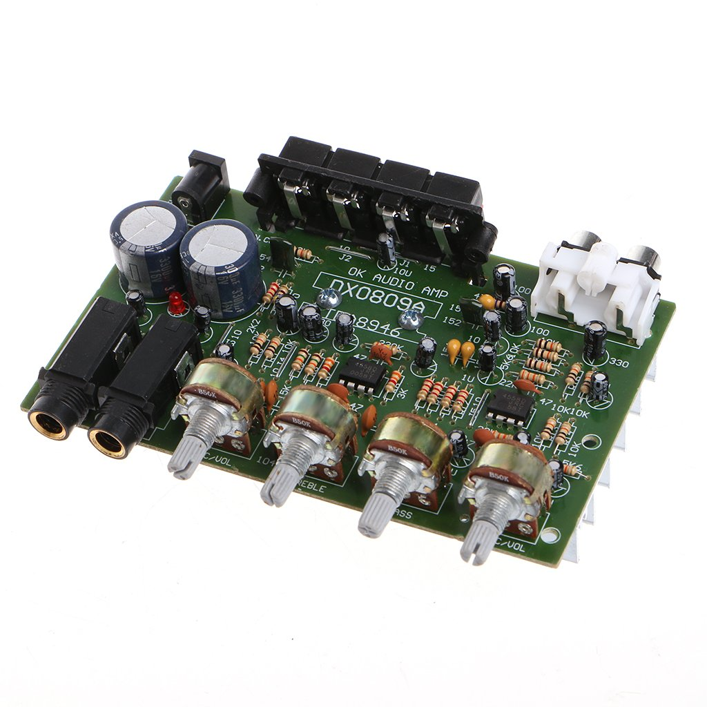 Kangnice 12v 60w Stereo Digital Audio Power Amplifier Tda7492 Circuit Board Blue Silver Electronic Module Diy Home Theater