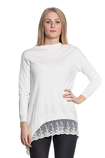 new product 63ece 7288c Abbino 2624 Feinstrickpullover Pullover with Lace for Woman ...