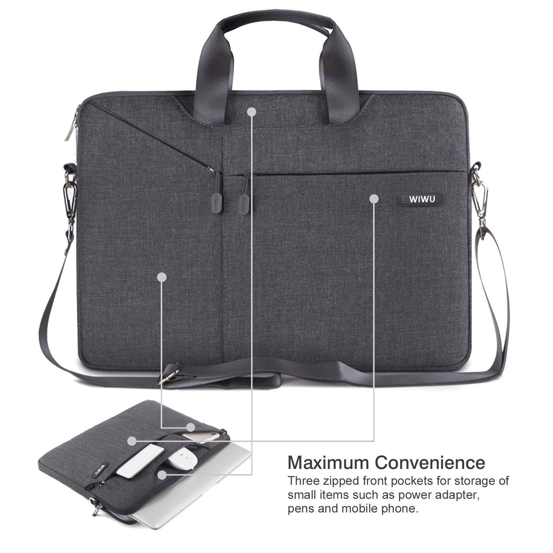 WIWU Waterproof Nylon Laptop Case for MacBook Air   Pro Retina Sleeve    Surface Pro 4   Ultrabooks Notebooks Case Bag with Shoulder Strap (15 Inch 54fbf792da4b9