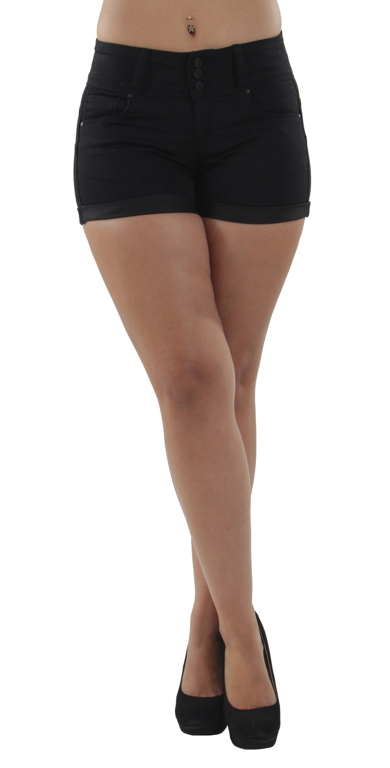 Fashion2Love 90099XL(SH) - Plus Size, Colombian Design, Mid Waist, Butt Lift, Booty Shorts in Black Size 1XL by Fashion2Love (Image #6)