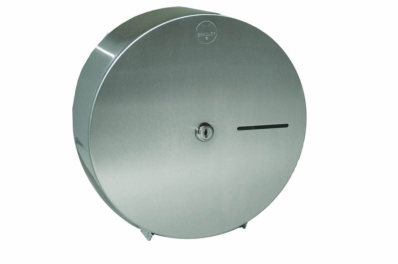 Bradley 5424 - 000000 rollo Jumbo dispensador de papel higiénico de acero inoxidable, 10 - 13/16