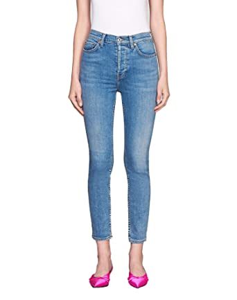 96ea4d5bdfa4 RE DONE Ultra Stretch High Rise Ankle Crop - Light 27 at Amazon Women s  Jeans store