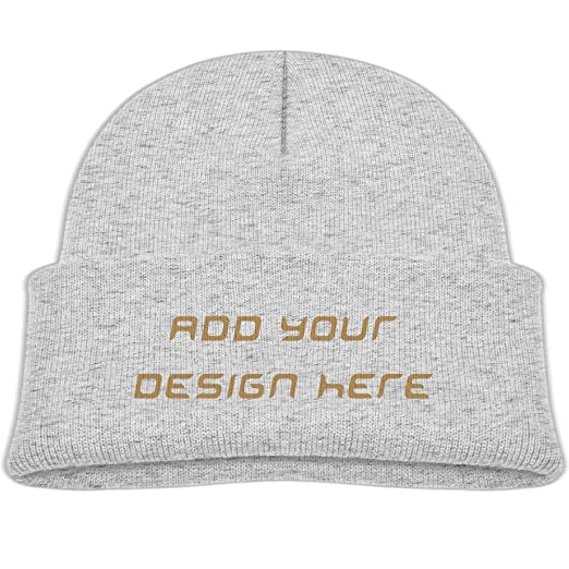 7b2c2111dad Kids Customize Your Own Designed Print Beanie Ski Hat Vintage Winter Hats  Woolen sleeve cap -