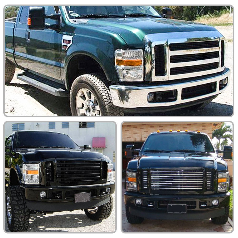 Pair,FO2502243,FO2503243 For 2008 2009 2010 Ford F250 F350 F450 Super duty Headlight Assembly,OE Projector Headlamp,Black housing,One-Year Limited Warranty AUTOSAVER88 2008-2010 Ford F250 F350 F450 Super duty