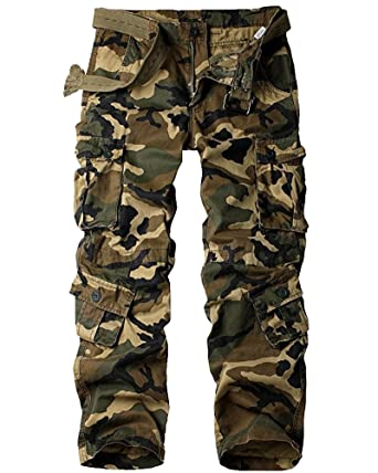 1de233c04fa47 Mens Cargo Pants, BDU Casual Tactical Work Camo Cargo Military Army Black  Wild Combat Pants for Men at Amazon Men's Clothing store: