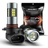 SEALIGHT H10/9145/9140/9045/9040 LED Fog Light Bulbs, 6000K Xenon White, 27 SMD Chips, 360-degree Illumination, Non…