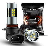 $21 » SEALIGHT H10/9145/9140/9045/9040 LED Fog Light Bulbs, 6000K Xenon White, 27 SMD Chips,…