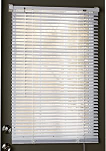 """Collections Etc Easy Install Magnetic Blinds, 1"""" Mini Quick Snap on/Snap Off, for Steel Metal Door Windows, White, 25"""" X 40"""", White, 25"""" X 40"""""""