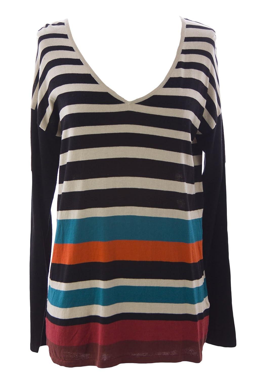 August Silk Women's Striped Raglan Sweater