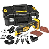 DeWalt DCS355D1-GB Oscillating Multi-Tool 18V li-ion Cordless Brushless (1 x 2Ah Battery) with 35 Accessories, 18 V, Large