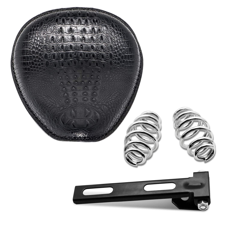 Senkauto Leather Solo Seat Spring Mounting Bracket Kit for Harley Sportster XL 1200 883 48 Chopper Bobber Seats Yamaha Kawasaki Custom (Type 05)