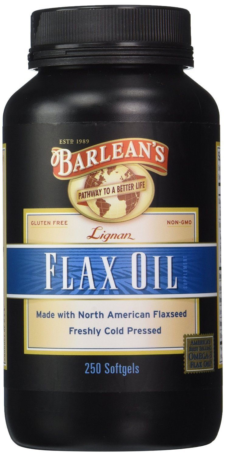 Barlean's Organic Oils Lignan Flax Oil - Softgels - 250 ct. (Pack of 4)